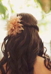 Half Updo_Twisted_Flower
